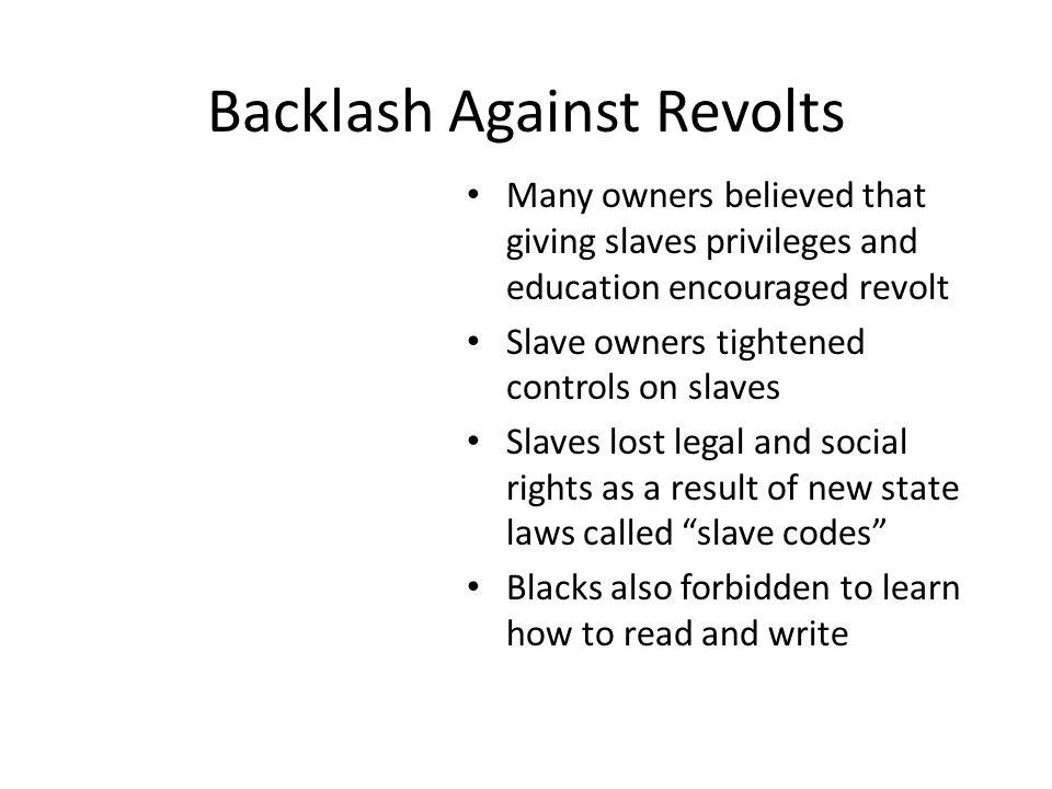 Backlash Against Revolts