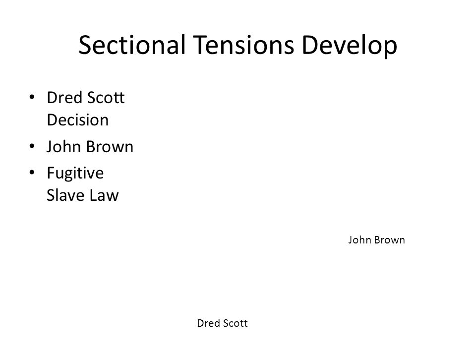 Sectional Tensions Develop