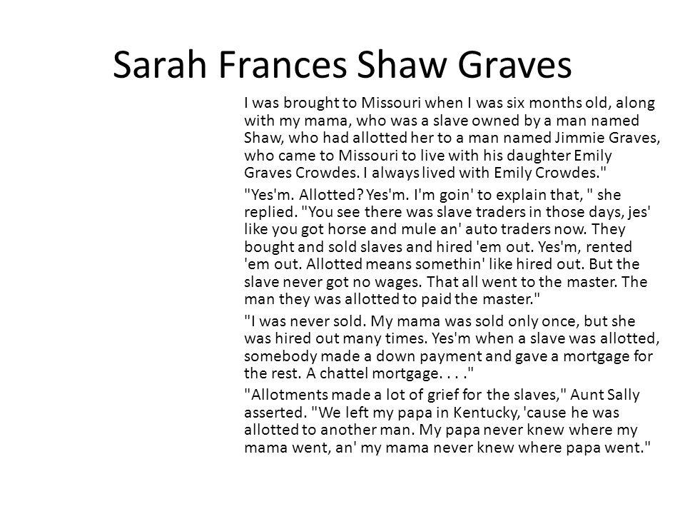 Sarah Frances Shaw Graves