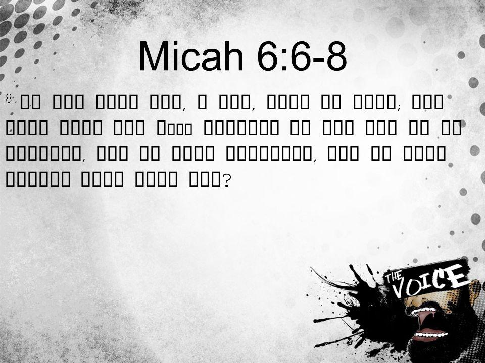 Micah 6:6-8