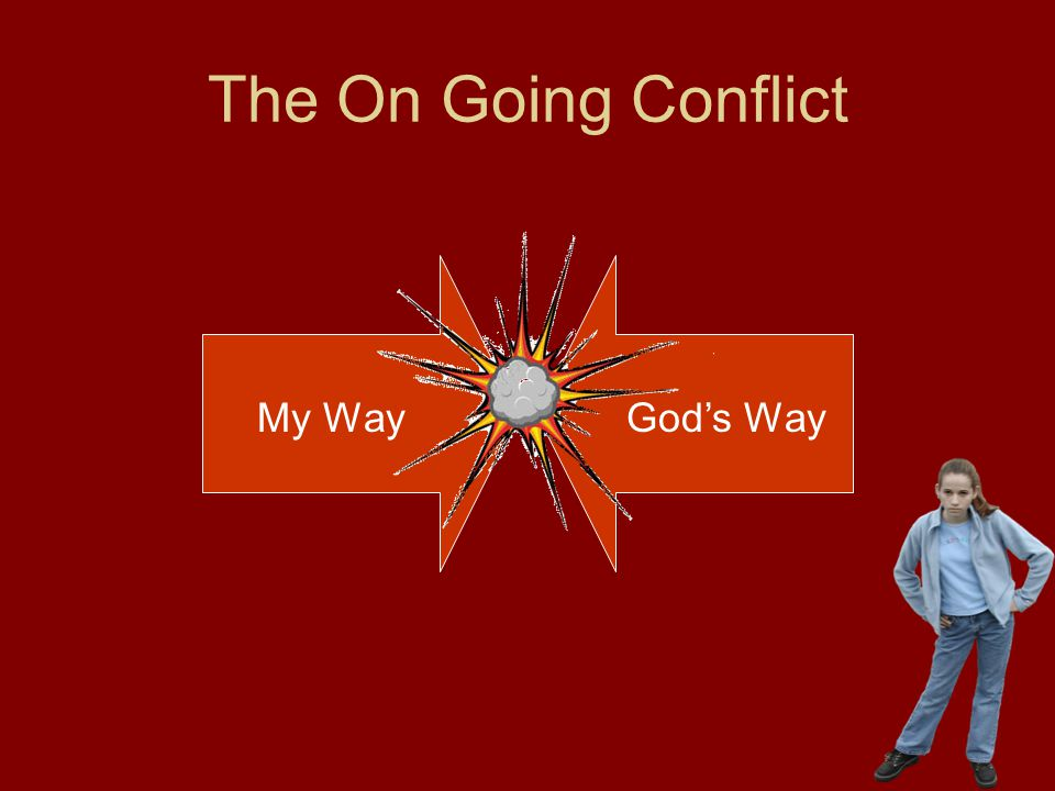 The On Going Conflict My Way God's Way