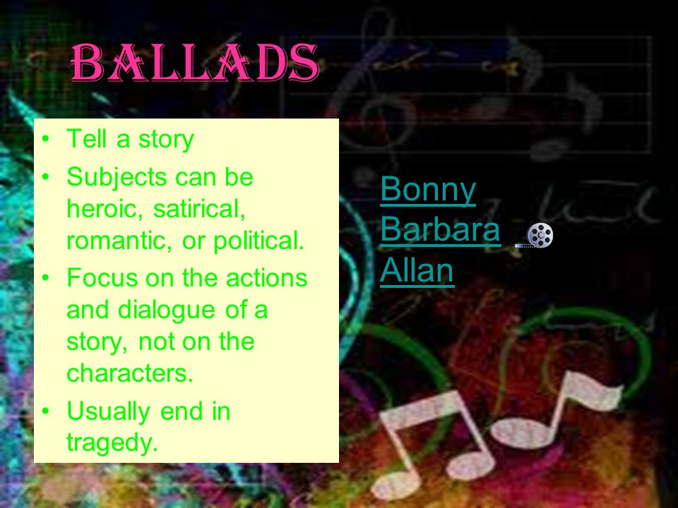 Ballads Bonny Barbara Allan Tell a story