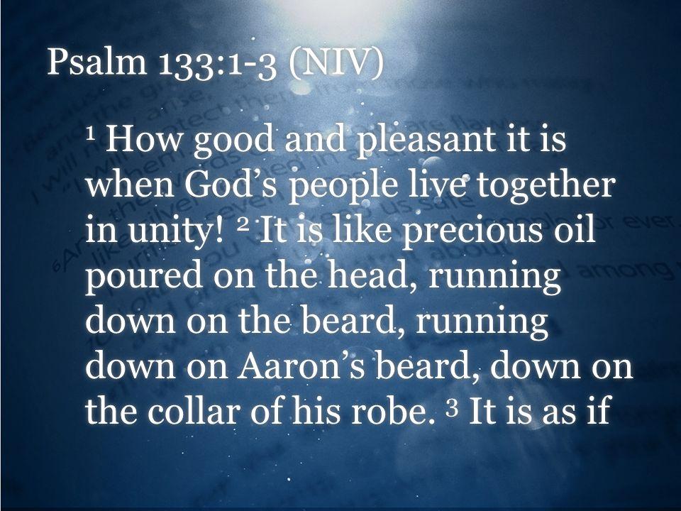 Psalm 133:1-3 (NIV)