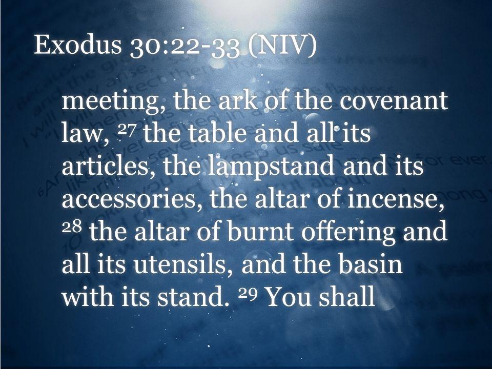 Exodus 30:22-33 (NIV)