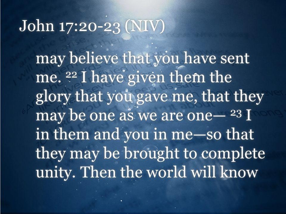 John 17:20-23 (NIV)