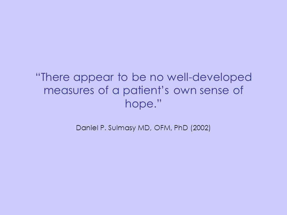 Daniel P. Sulmasy MD, OFM, PhD (2002)