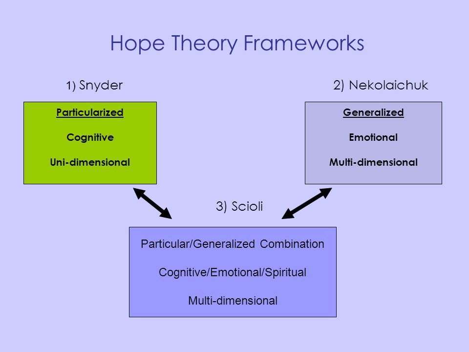 Hope Theory Frameworks