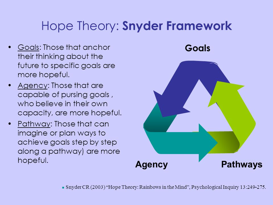 Hope Theory: Snyder Framework