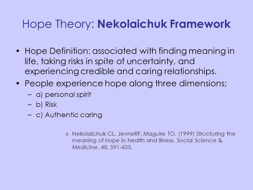 Hope Theory: Nekolaichuk Framework