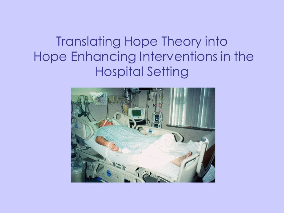 Translating Hope Theory into Hope Enhancing Interventions in the Hospital Setting