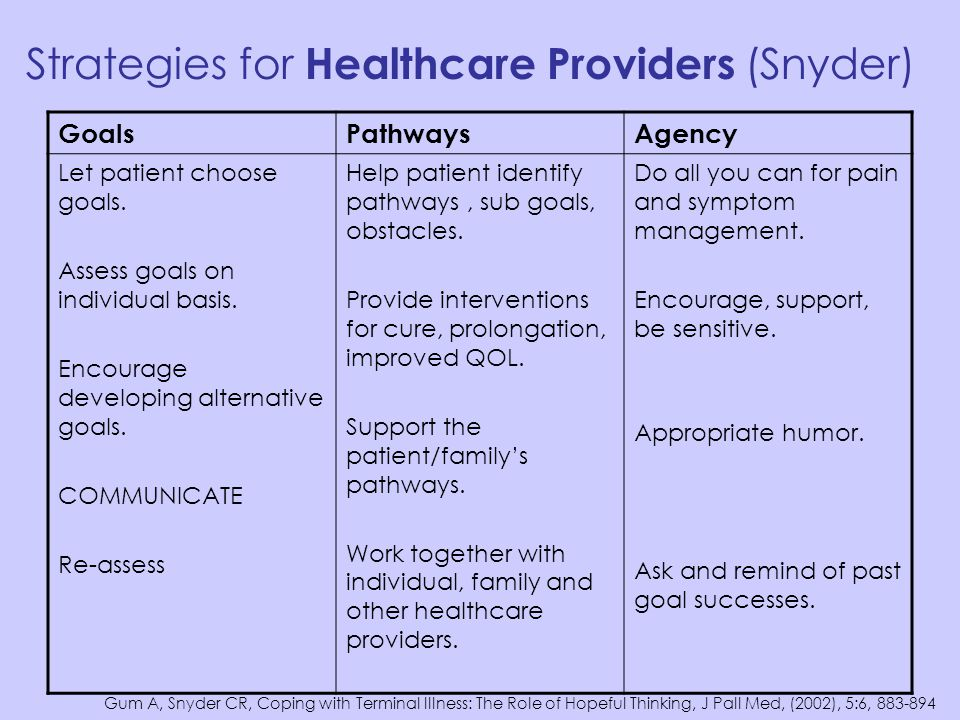 Strategies for Healthcare Providers (Snyder)