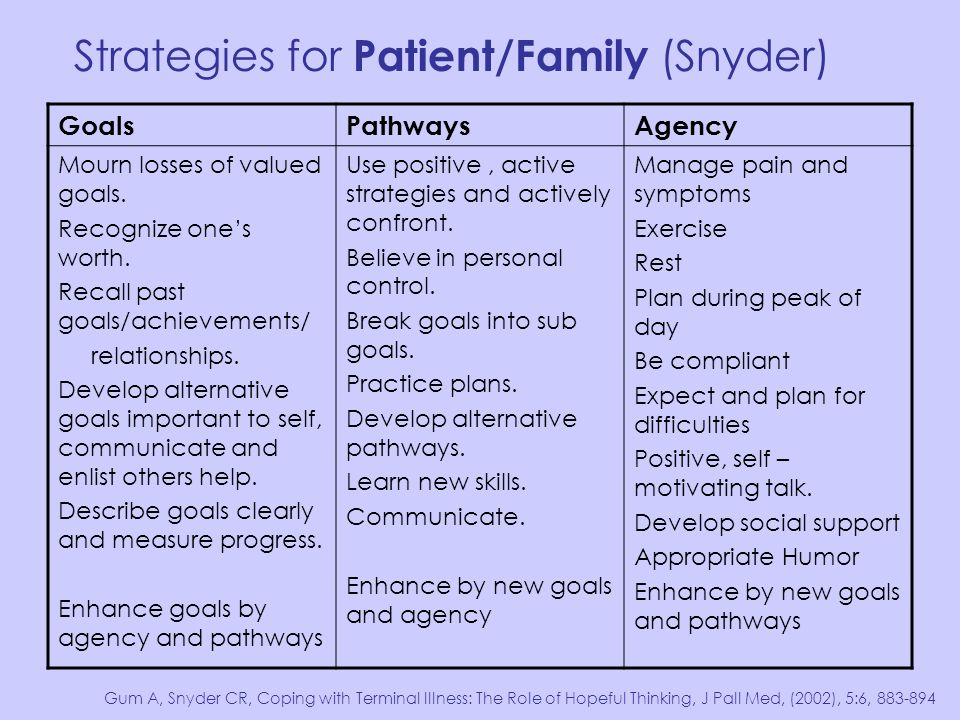 Strategies for Patient/Family (Snyder)