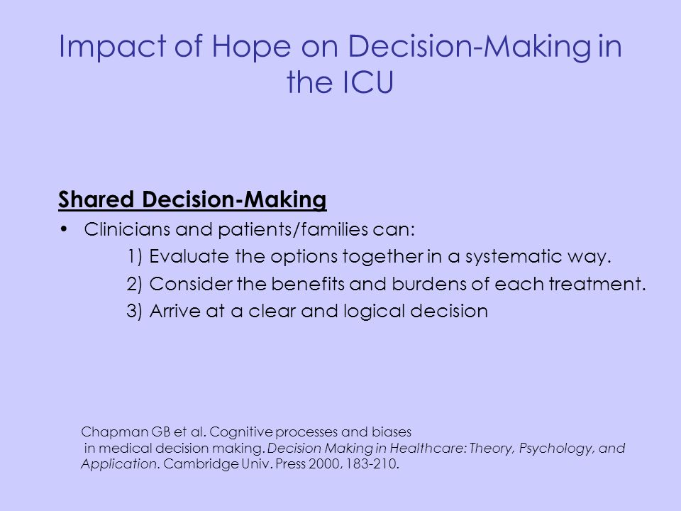 Impact of Hope on Decision-Making in the ICU