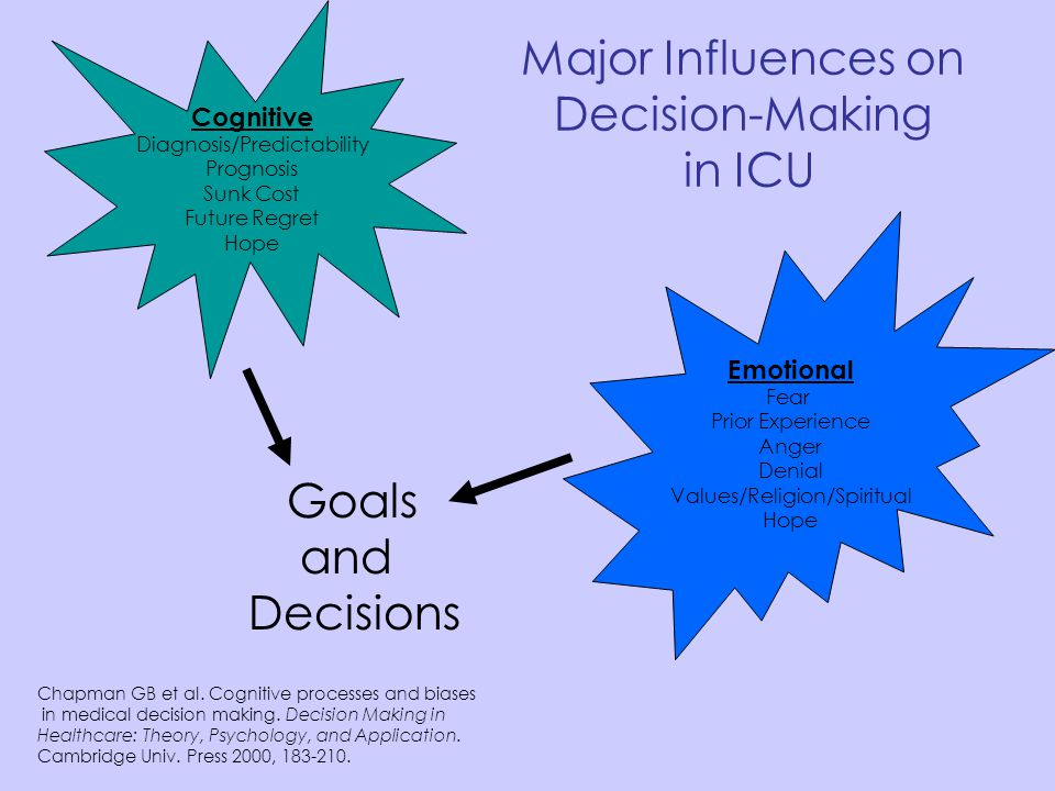 Major Influences on Decision-Making in ICU