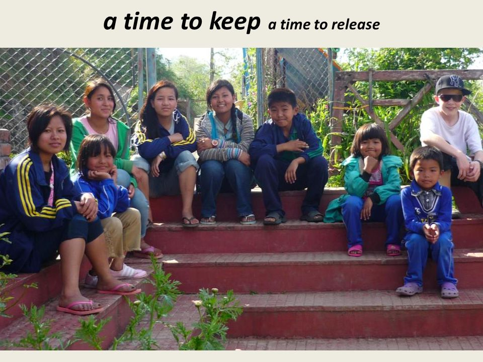 a time to keep a time to release