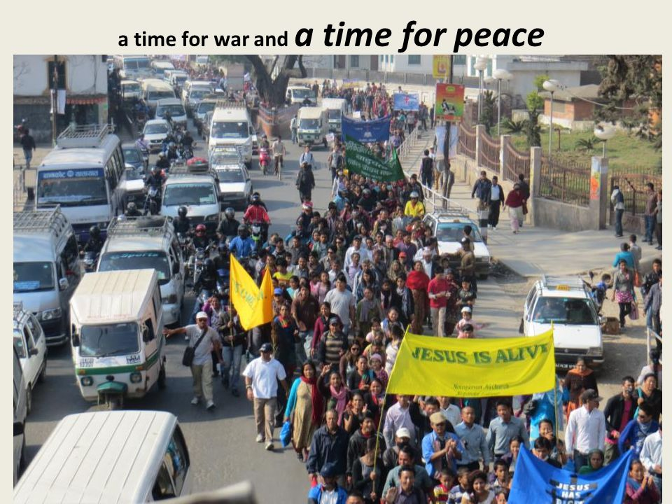 a time for war and a time for peace