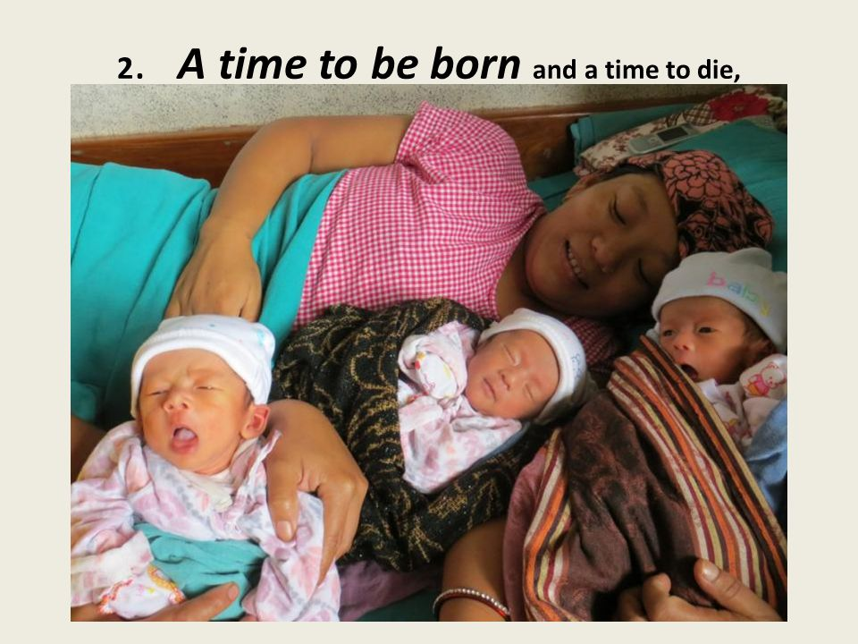 2. A time to be born and a time to die,
