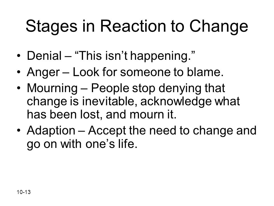 Stages in Reaction to Change