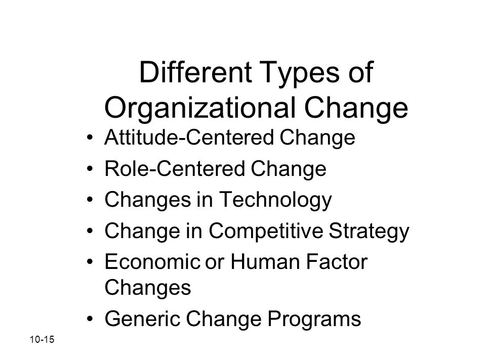 Different Types of Organizational Change