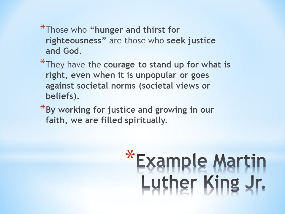 Example Martin Luther King Jr.