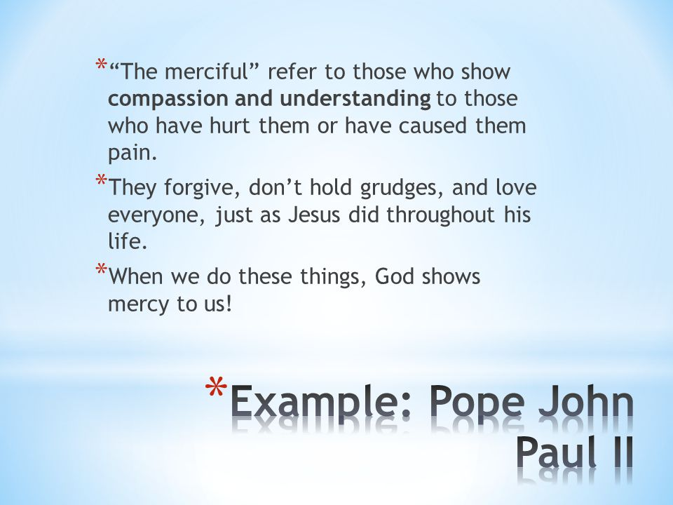 Example: Pope John Paul II