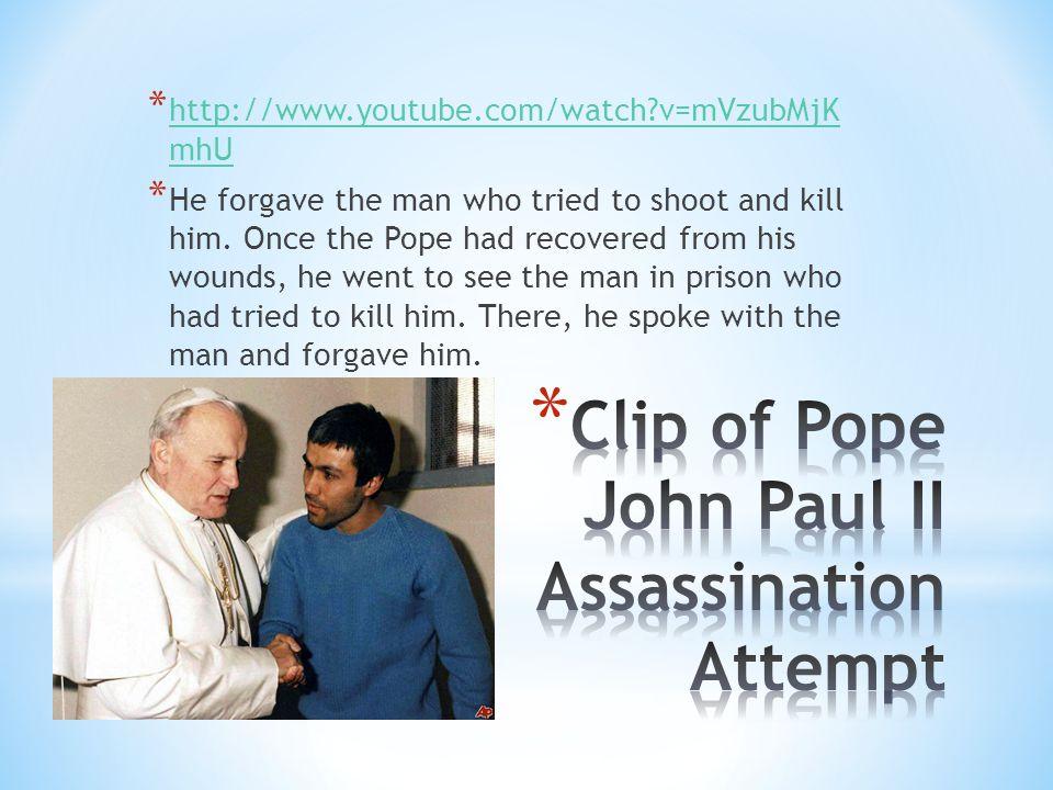 Clip of Pope John Paul II Assassination Attempt