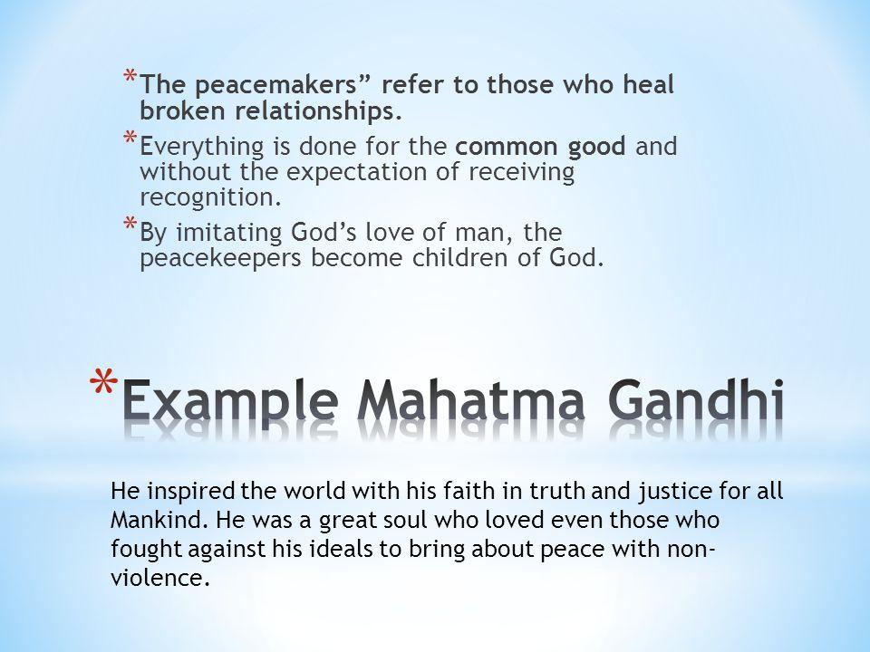 Example Mahatma Gandhi