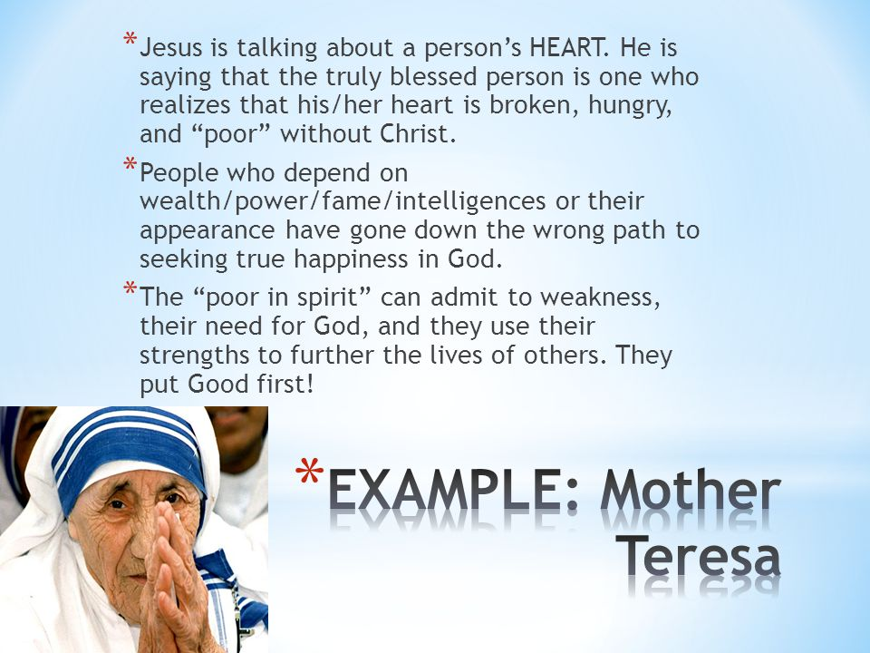EXAMPLE: Mother Teresa