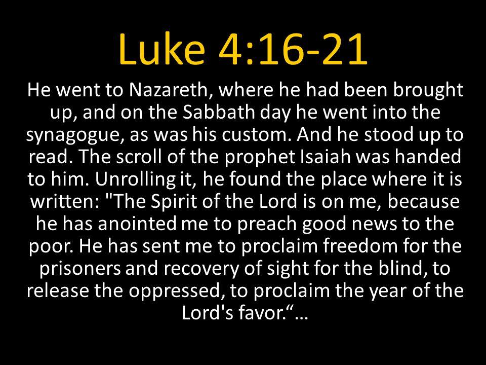 Luke 4:16-21