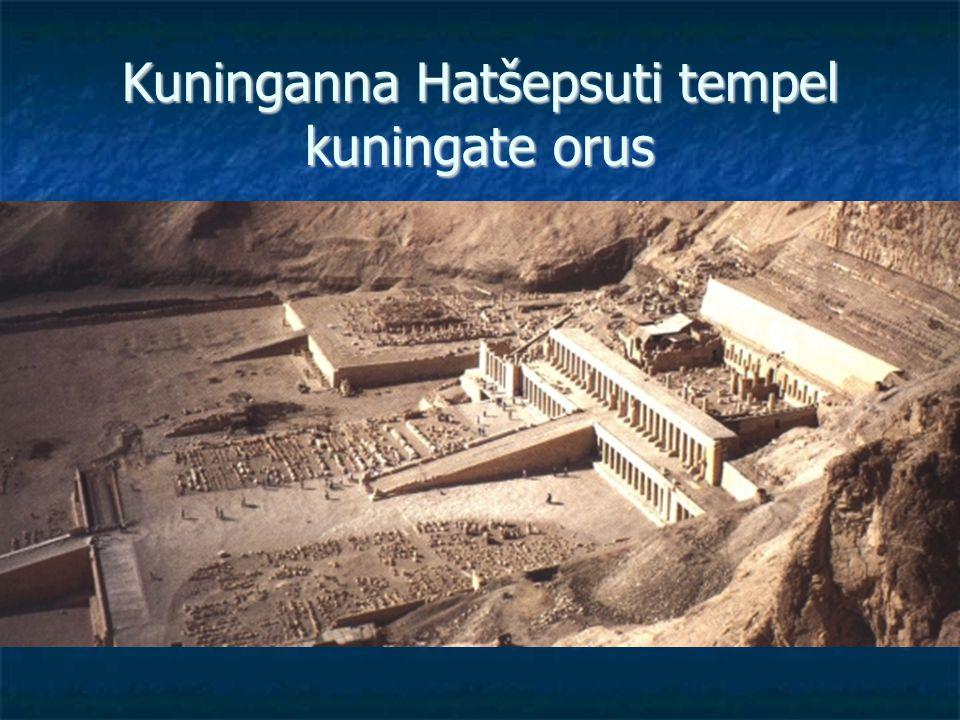 Kuninganna Hatšepsuti tempel kuningate orus
