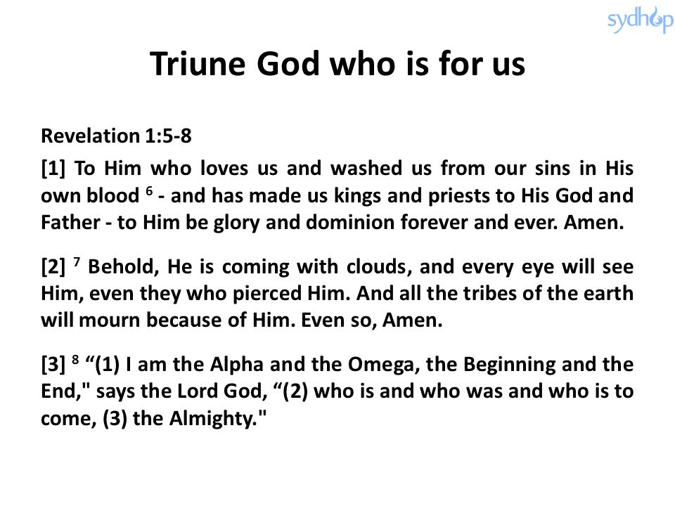 Triune God who is for us