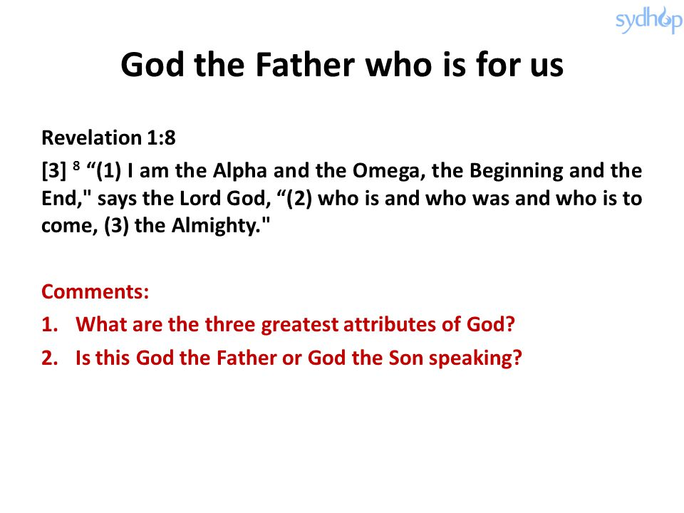 God the Father who is for us