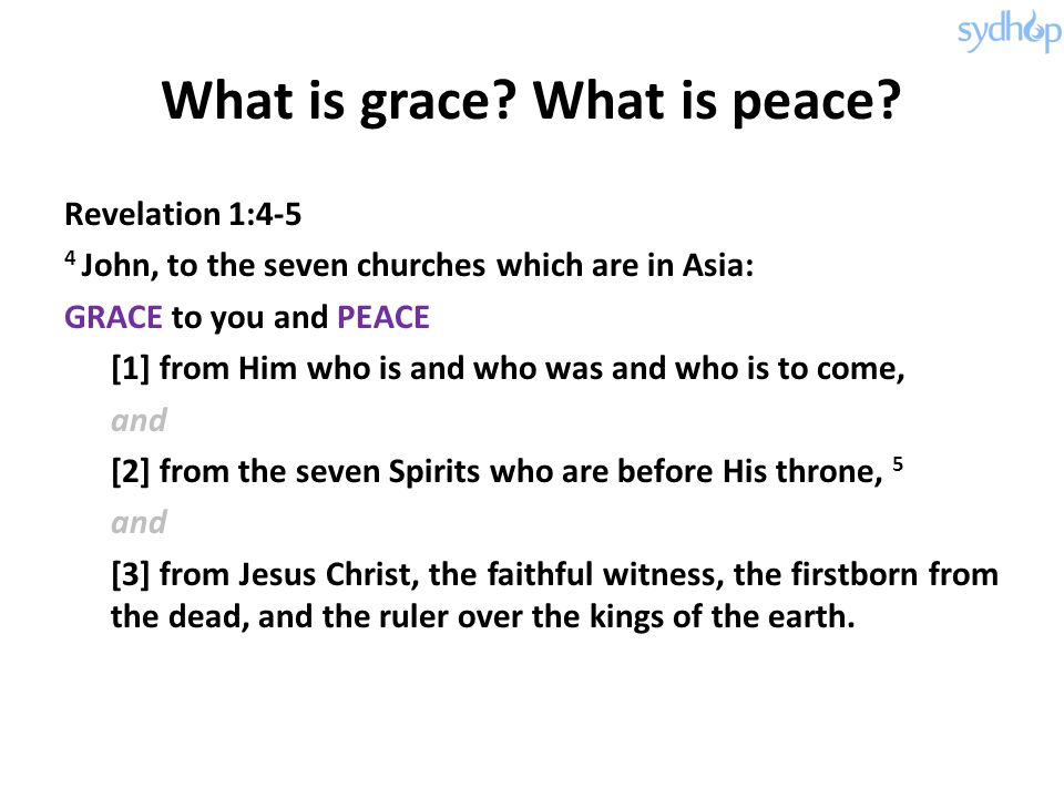 What is grace What is peace