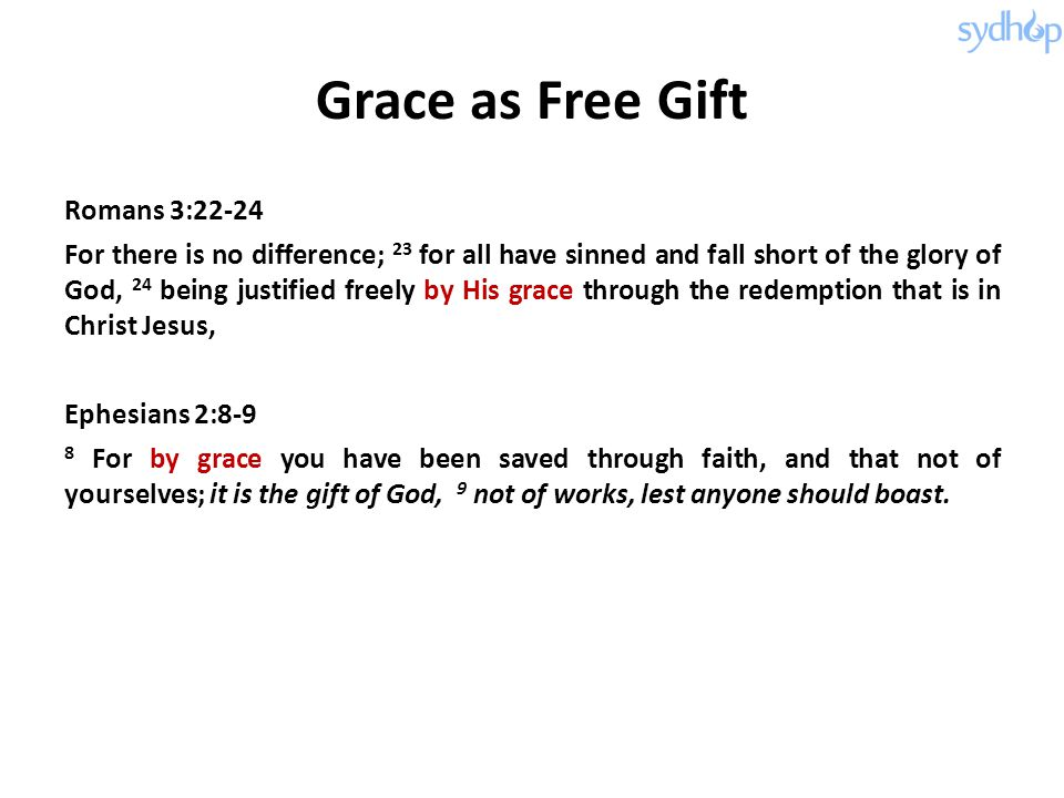Grace as Free Gift