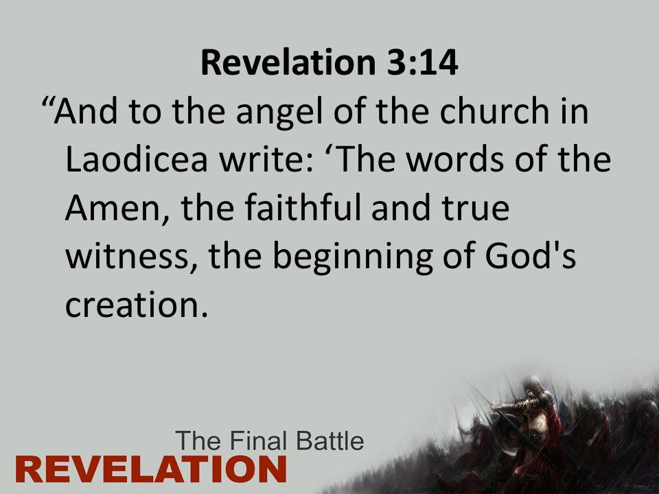 Revelation 3:14