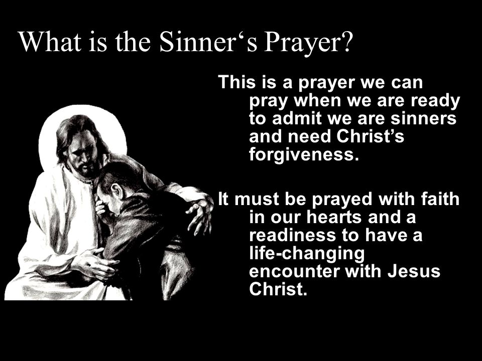 What is the Sinner's Prayer