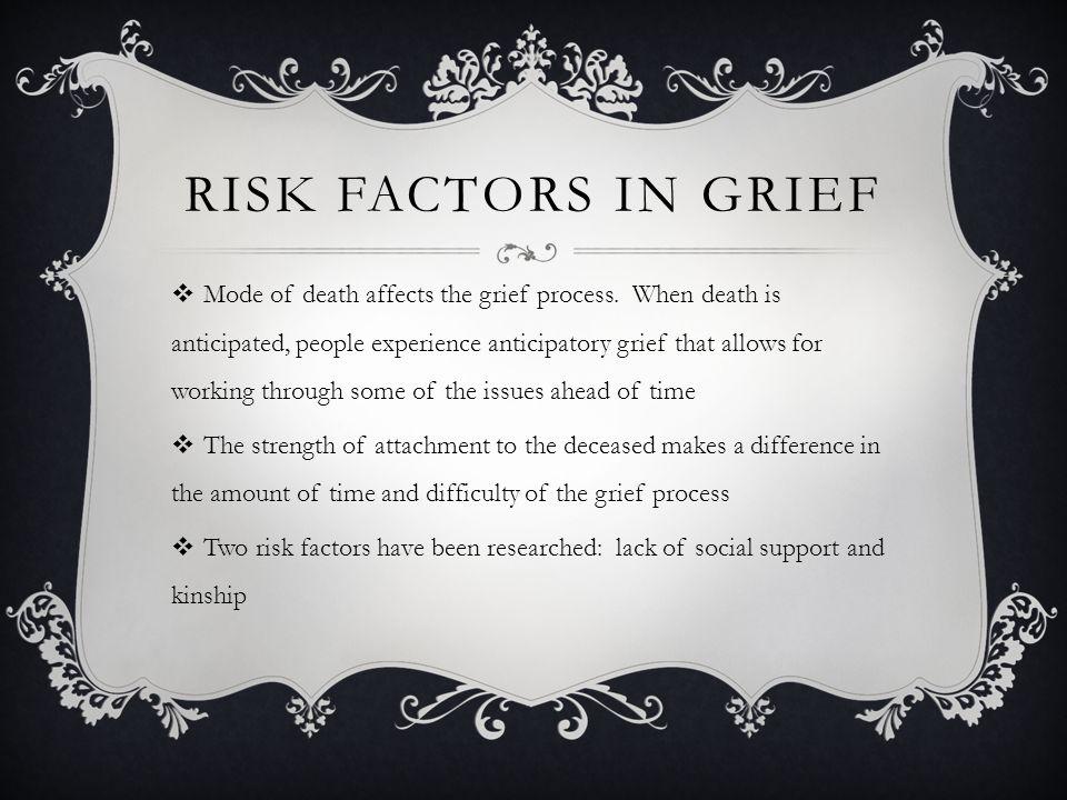 Risk Factors in Grief