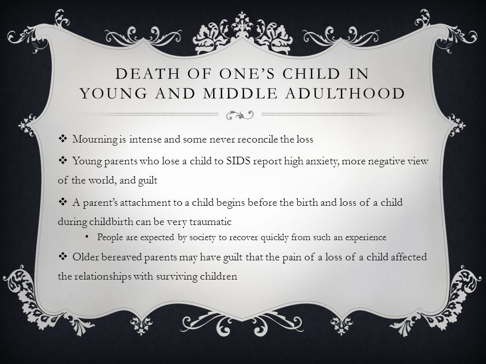 Death of One's Child in Young and Middle Adulthood