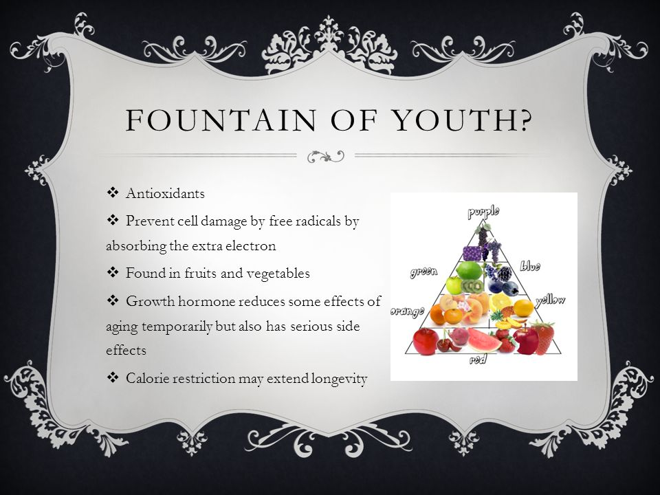 Fountain of Youth Antioxidants