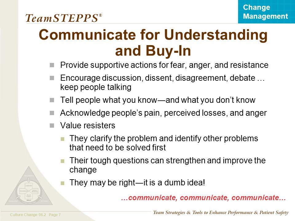 Communicate for Understanding and Buy-In