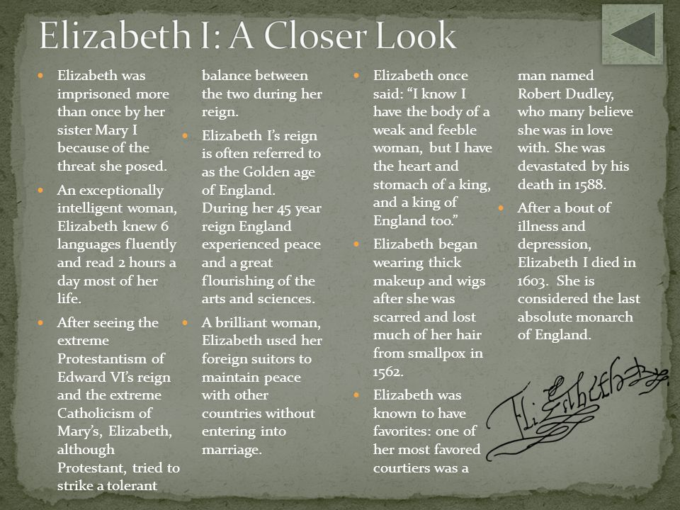 Elizabeth I: A Closer Look