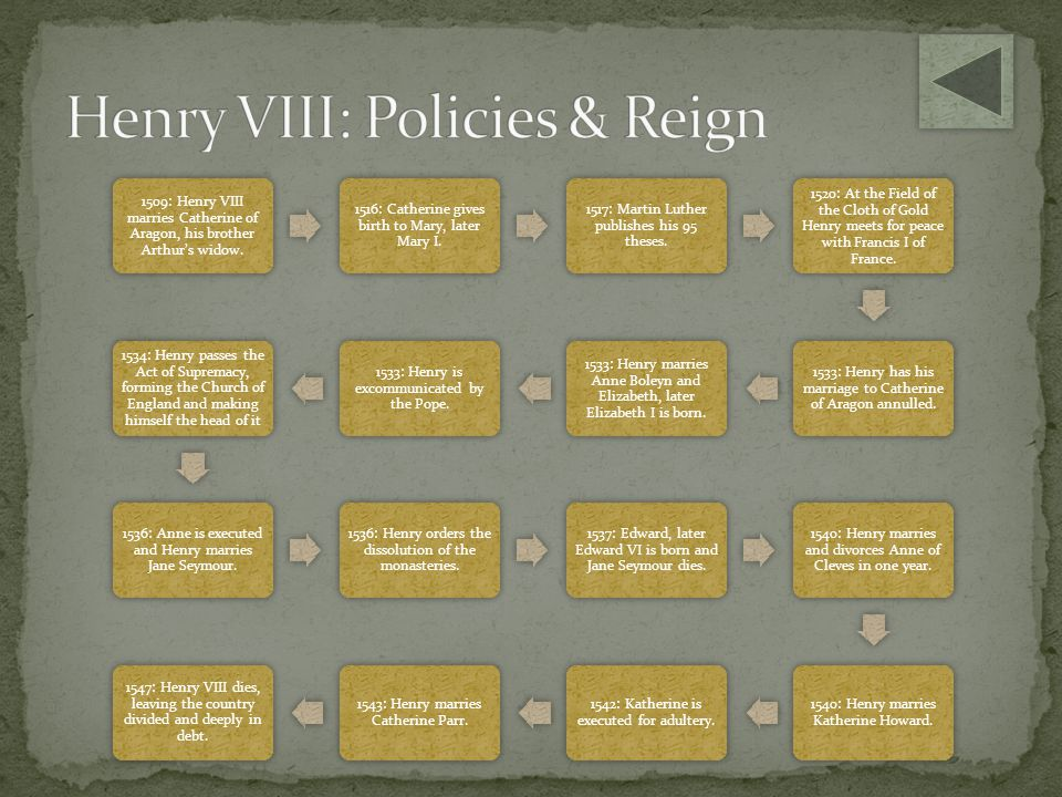 Henry VIII: Policies & Reign