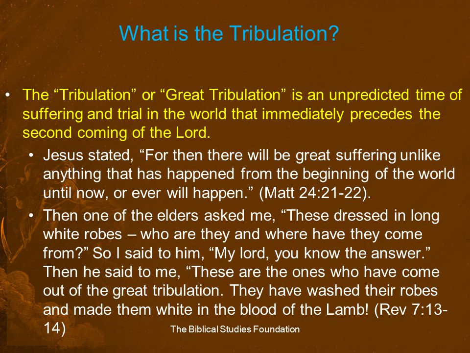 What is the Tribulation