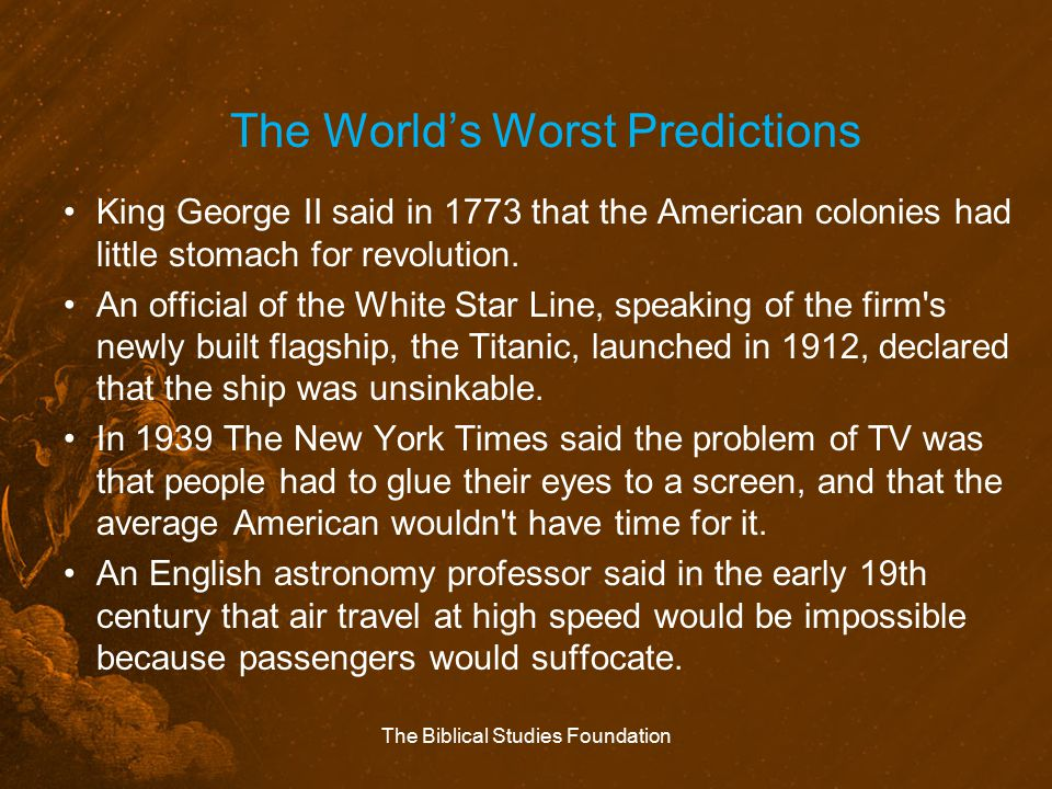The World's Worst Predictions