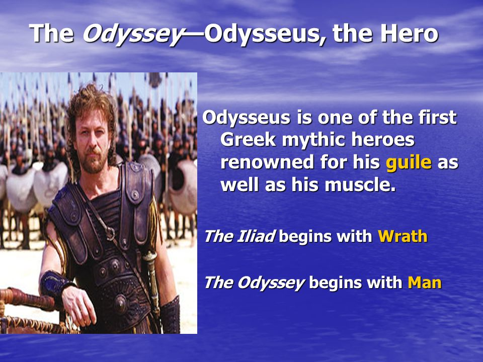 What quotes from The Odyssey illustrate how Odysseus is a hero?
