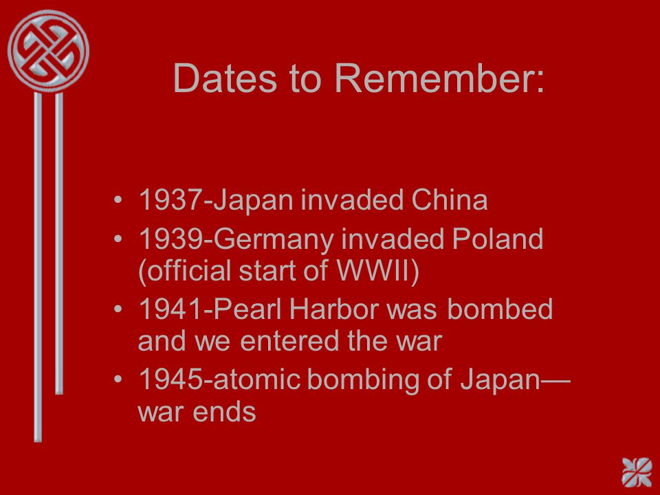 Dates to Remember: 1937-Japan invaded China