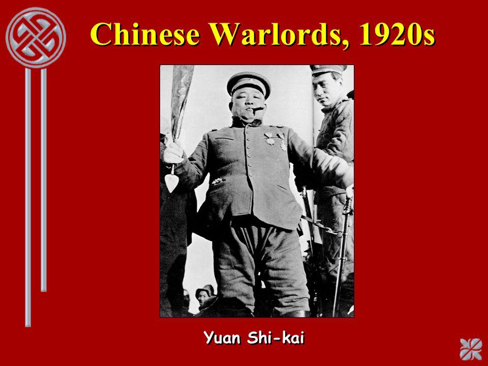 Chinese Warlords, 1920s Yuan Shi-kai