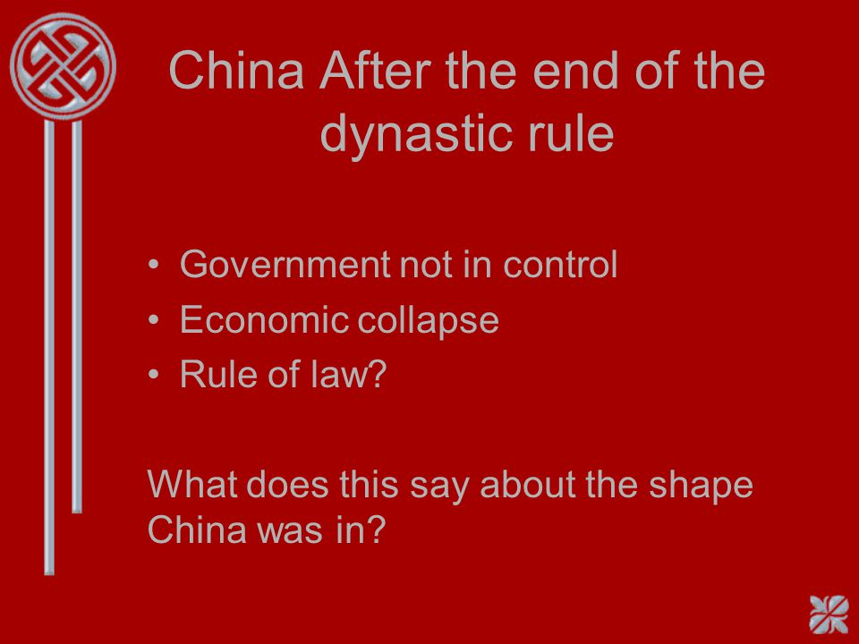 China After the end of the dynastic rule