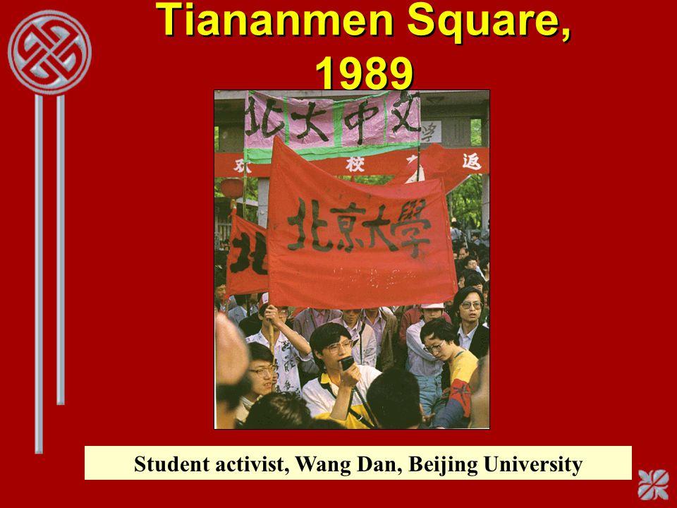 Student activist, Wang Dan, Beijing University