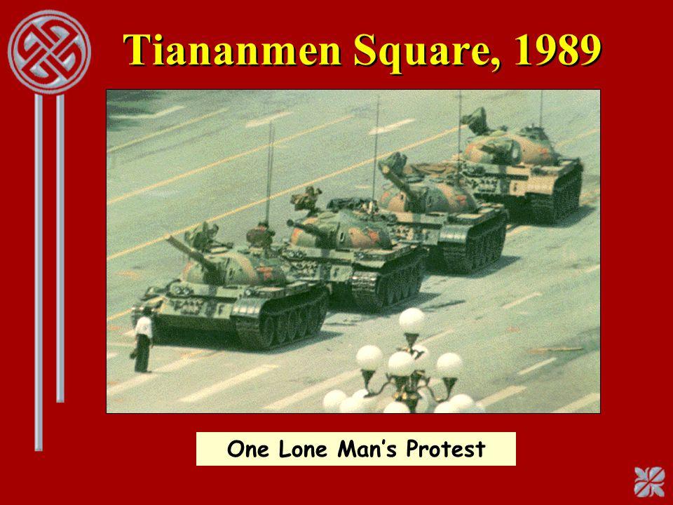Tiananmen Square, 1989 One Lone Man's Protest